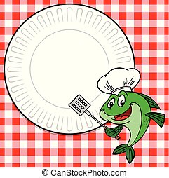 Fish Cookout Invite - A cartoon illustration of a Fish ...