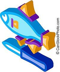 fish cut fin isometric icon vector illustration - fish cut ...