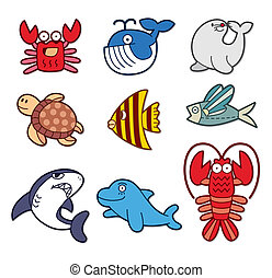 fish, cute, element