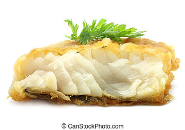 Fish cutlet on a white background