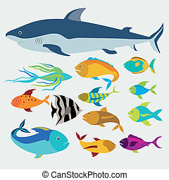 Fish design over white background,vector illustration