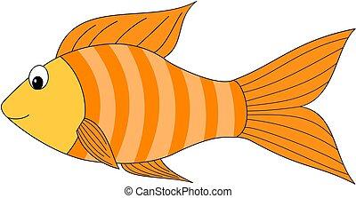 fish, dessin animé, icon.