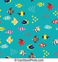 fish, dessin animé, modèle
