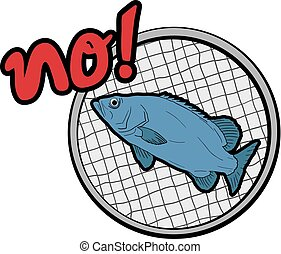 fish, disegnare, intrappolato