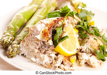 fish, dish.