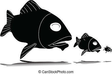 fish eat fish vector