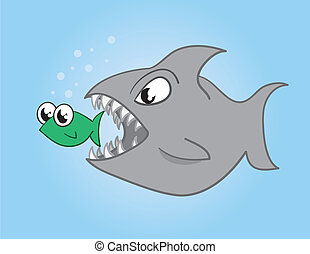 Big fish eating a small fish Illustrations and Clipart. 32 ...