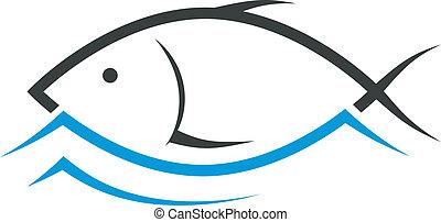 fish emblem design