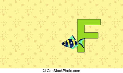 Fish. English ZOO Alphabet - letter F - Animated English...