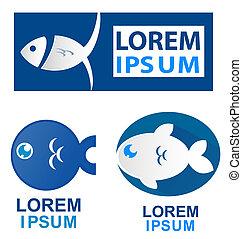 fish, ensemble, symbole