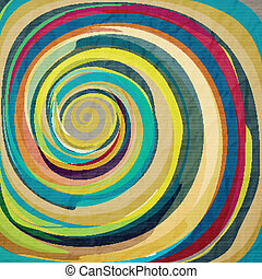fish eye - abstract wallpaper with colorful swirl on...