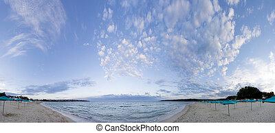Fish-eye panorama