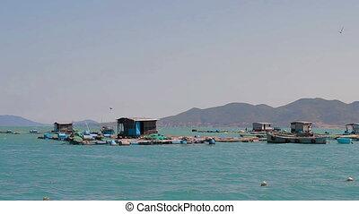 Fish farms in Vietnam Nha Trang
