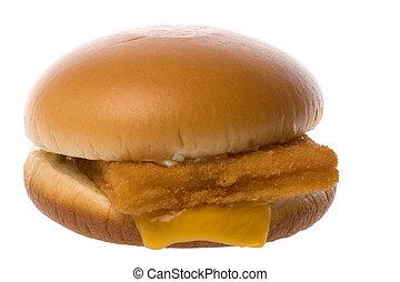 Fish Filet Burger Isolated - Isolated macro image of fish ...