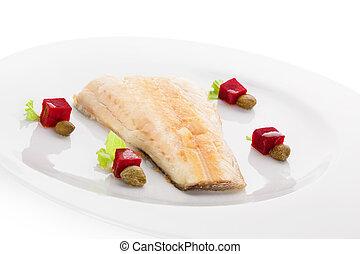 fish, fillet., grillé, perche