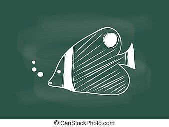 fish, fish, ベクトル, 図画
