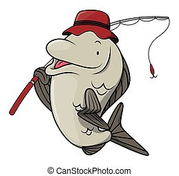 Fish Fishing Cartoon illustration