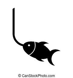 fish fishing hook icon