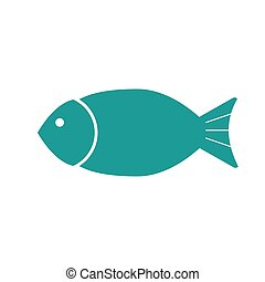 Fish flat icon. Isolated on white background. Vector illustration.