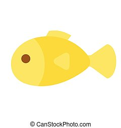 fish flat illustration on white