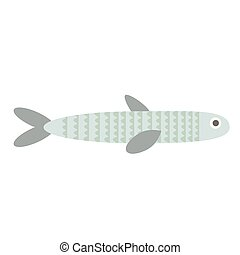 fish flat illustration on white