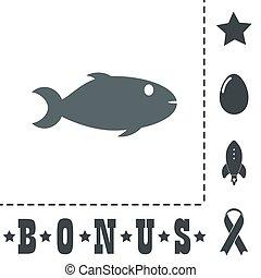 fish, fond, icône