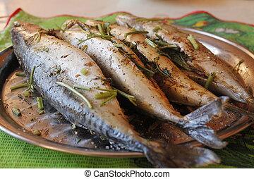 fish, food, grill
