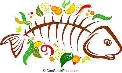 Fish food vector