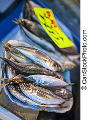 Fish for Sale in Market, Tokyo, Japan, Asia