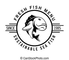 fish, frais, menu