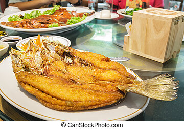 fish, fritto, snapper