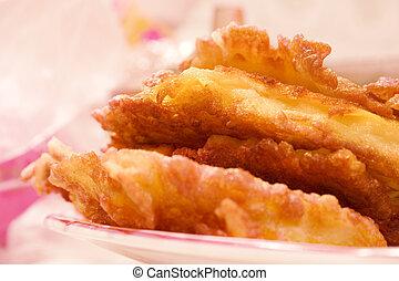 Fish fry on the dish
