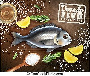 fish, gotowanie, ilustracja