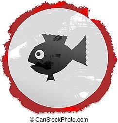 fish, grunge, aláír