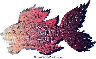 Fish Grunge Lineart