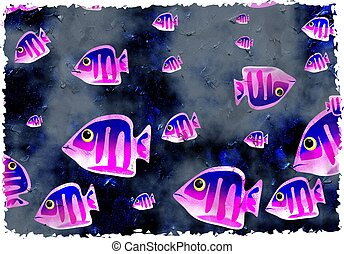 fish, grunge