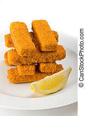 fish, huit, doigts