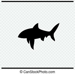 fish icon black color on transparent