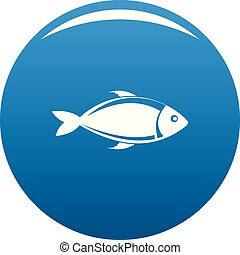 Fish icon blue vector
