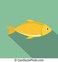 Fish icon, flat style.