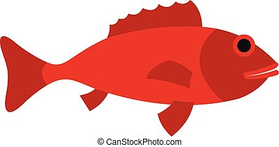 Fish icon, flat style