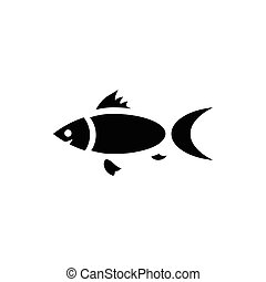 Fish icon in simple style