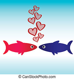 Fish icon love wallpaper