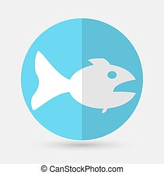 Fish icon on a white background