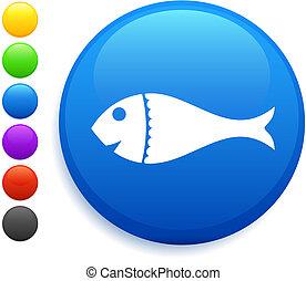 fish icon on round internet button