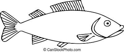 fish icon on white background