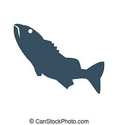 Fish icon on white background.