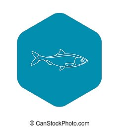 Fish icon, outline style