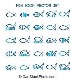 Fish Icon Set.eps