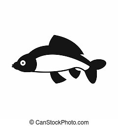Fish icon, simple style